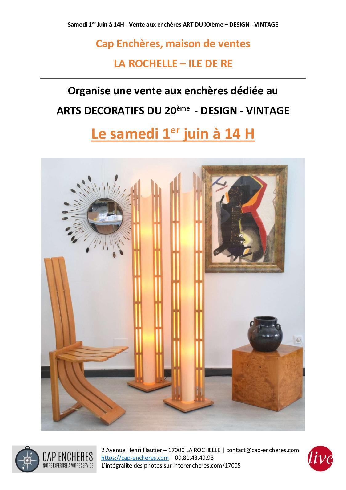 Enchères Cap Design Juin Calaméo Vente 1er tsrdhQ