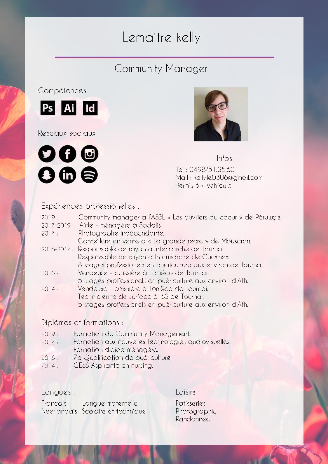 Calaméo Cv Community Manager Kelly