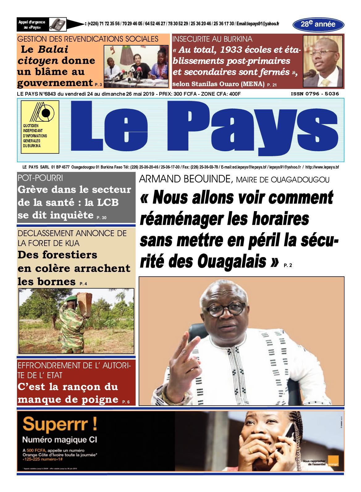 Rembert Van Damme au Burkina Faso