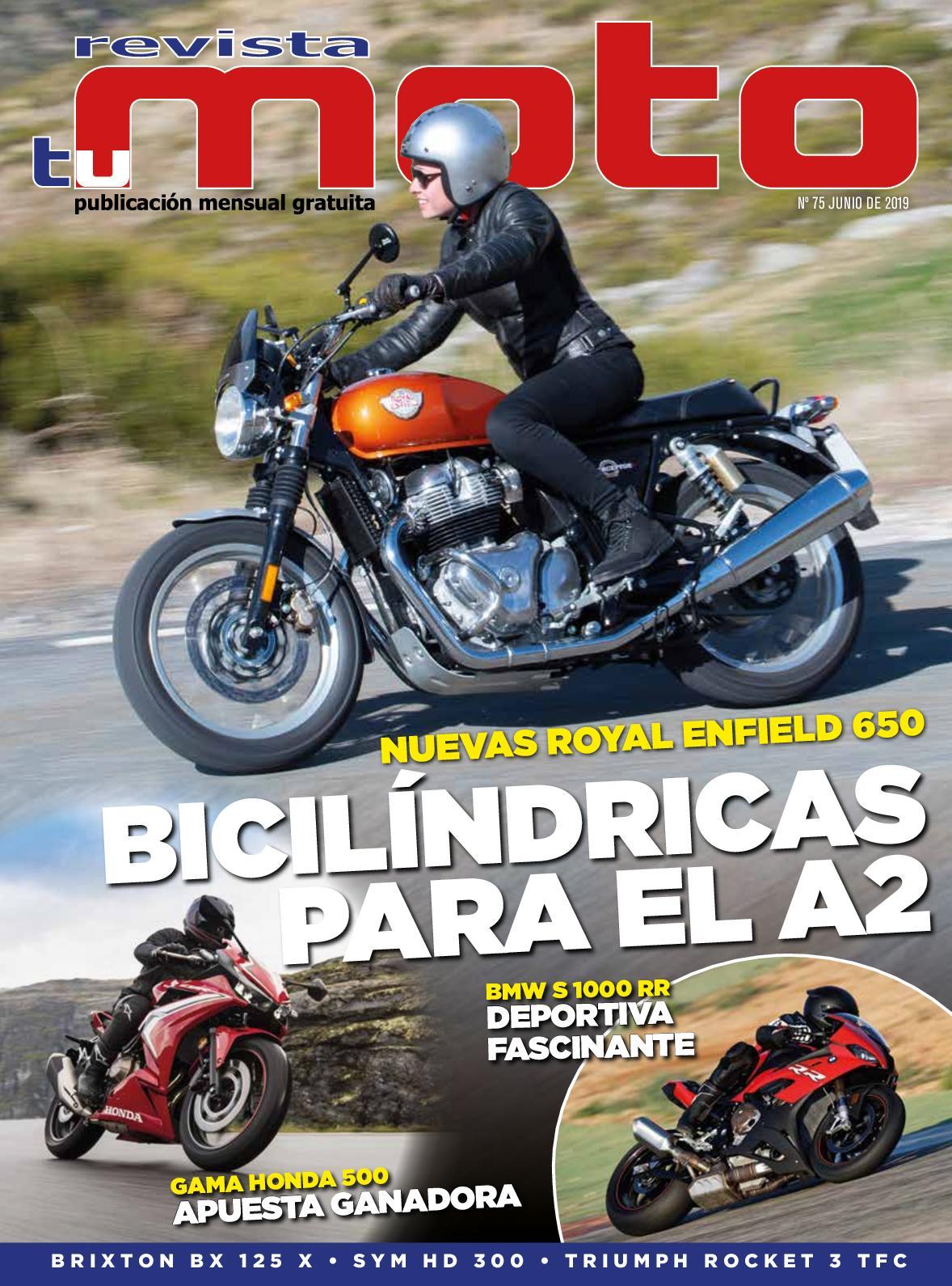 Revista Tu Moto Mes De Junio 2019 Número 75