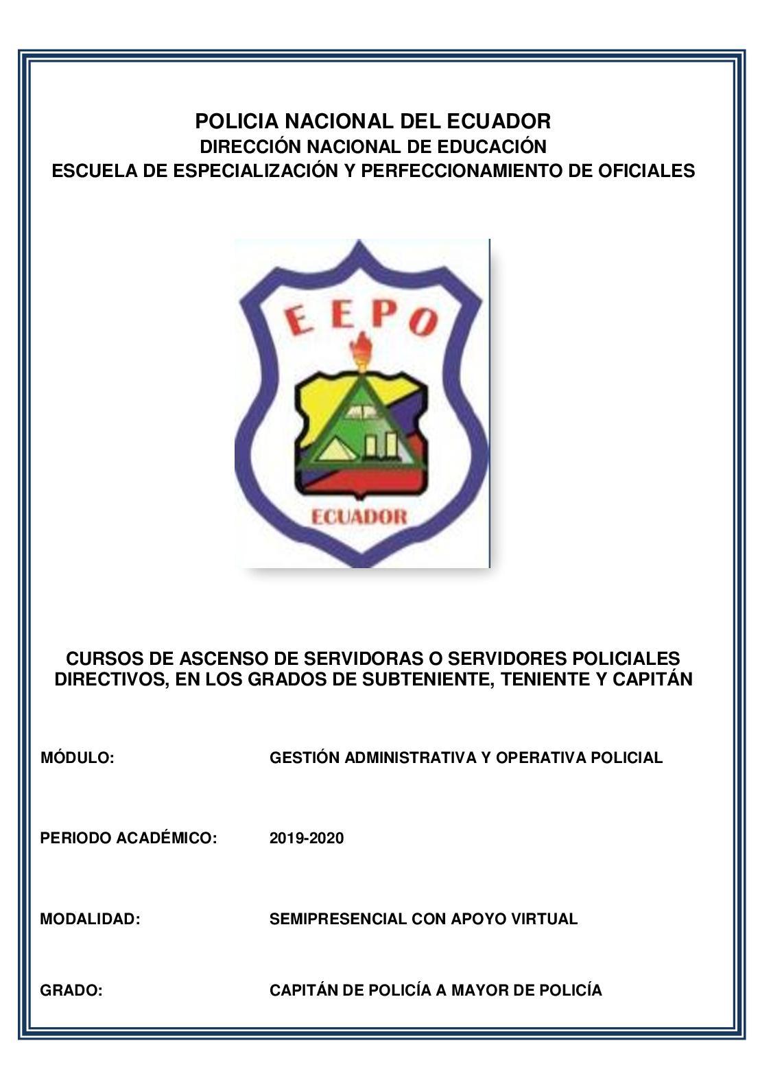 Calaméo Gestión Administrativa Y Operativa Policial Unidad 3