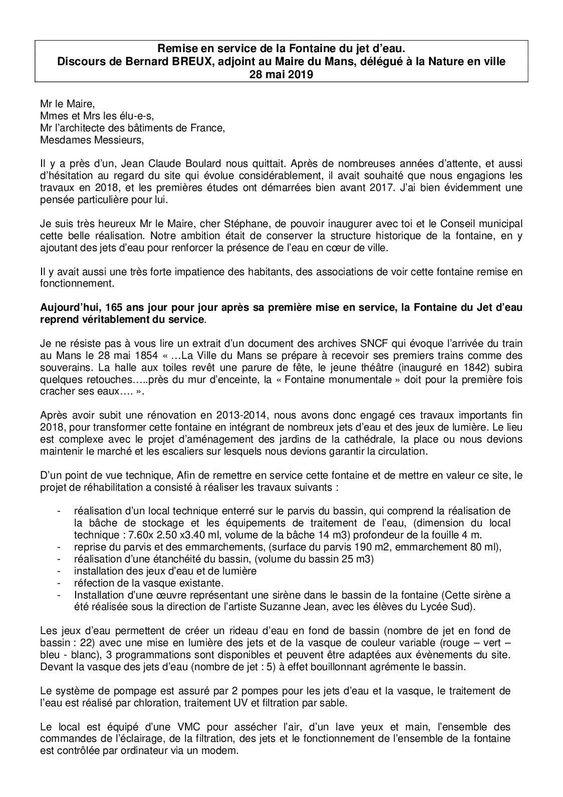 Calaméo - Remise En Service De La Fontaine Du Jet D\'eau