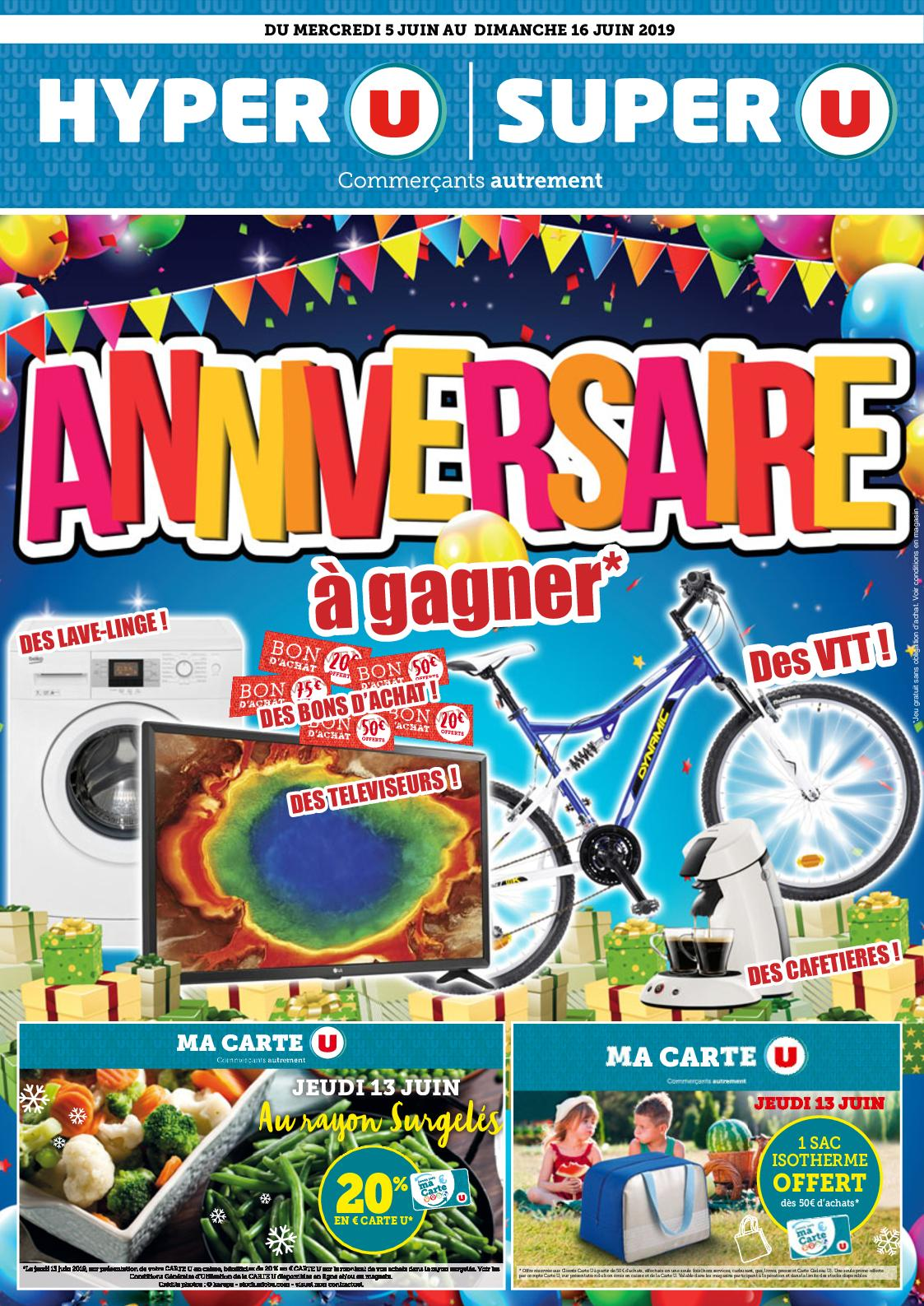 Catalogue du 05/06 au 16/06 : Anniversaire U
