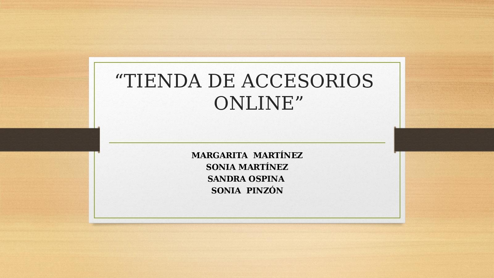 Tienda De Accesorios Online