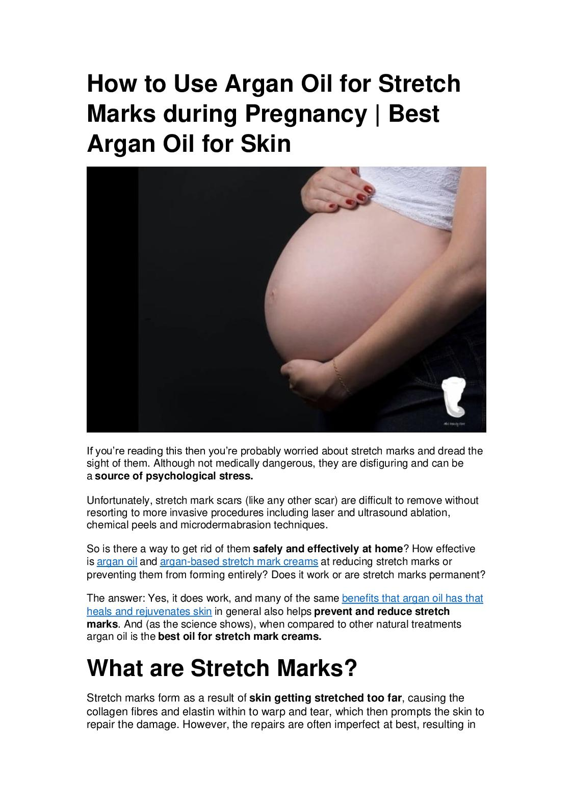 Calameo How To Use Argan Oil For Stretch Marks During Pregnancy
