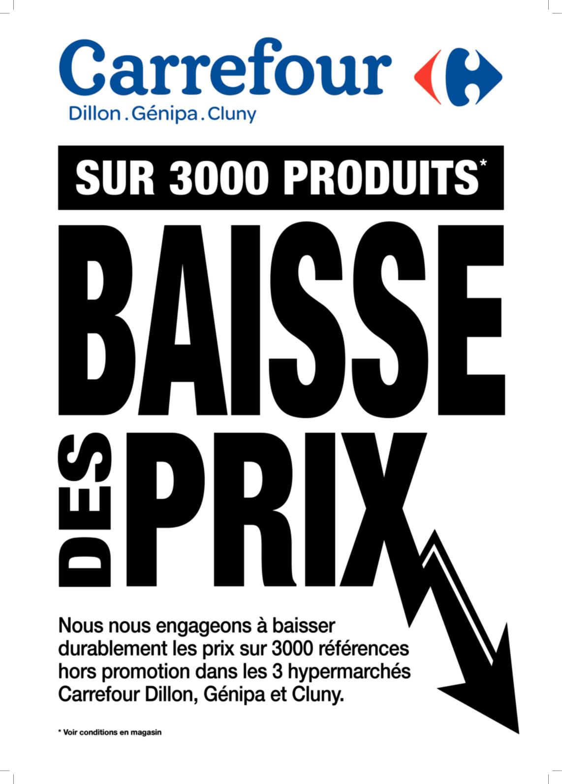 BAISSE DE PRIX SUR 3000 PRODUITS