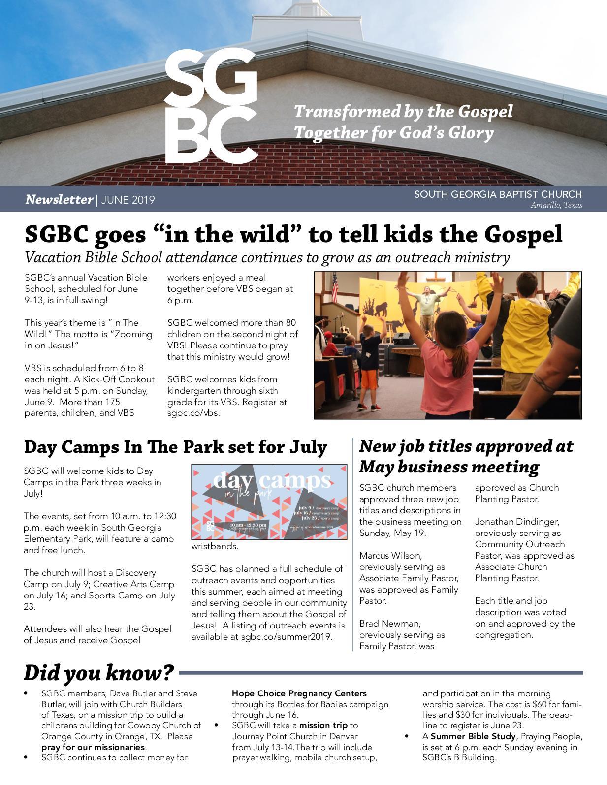 Calaméo - SGBC NEWSLETTER   JUNE 2019