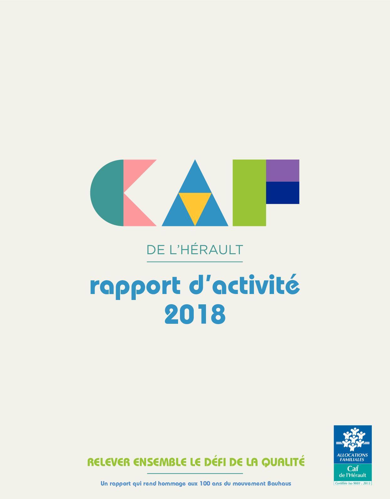 Calaméo Rapport D Activité 2018 De La Caf De L Hérault