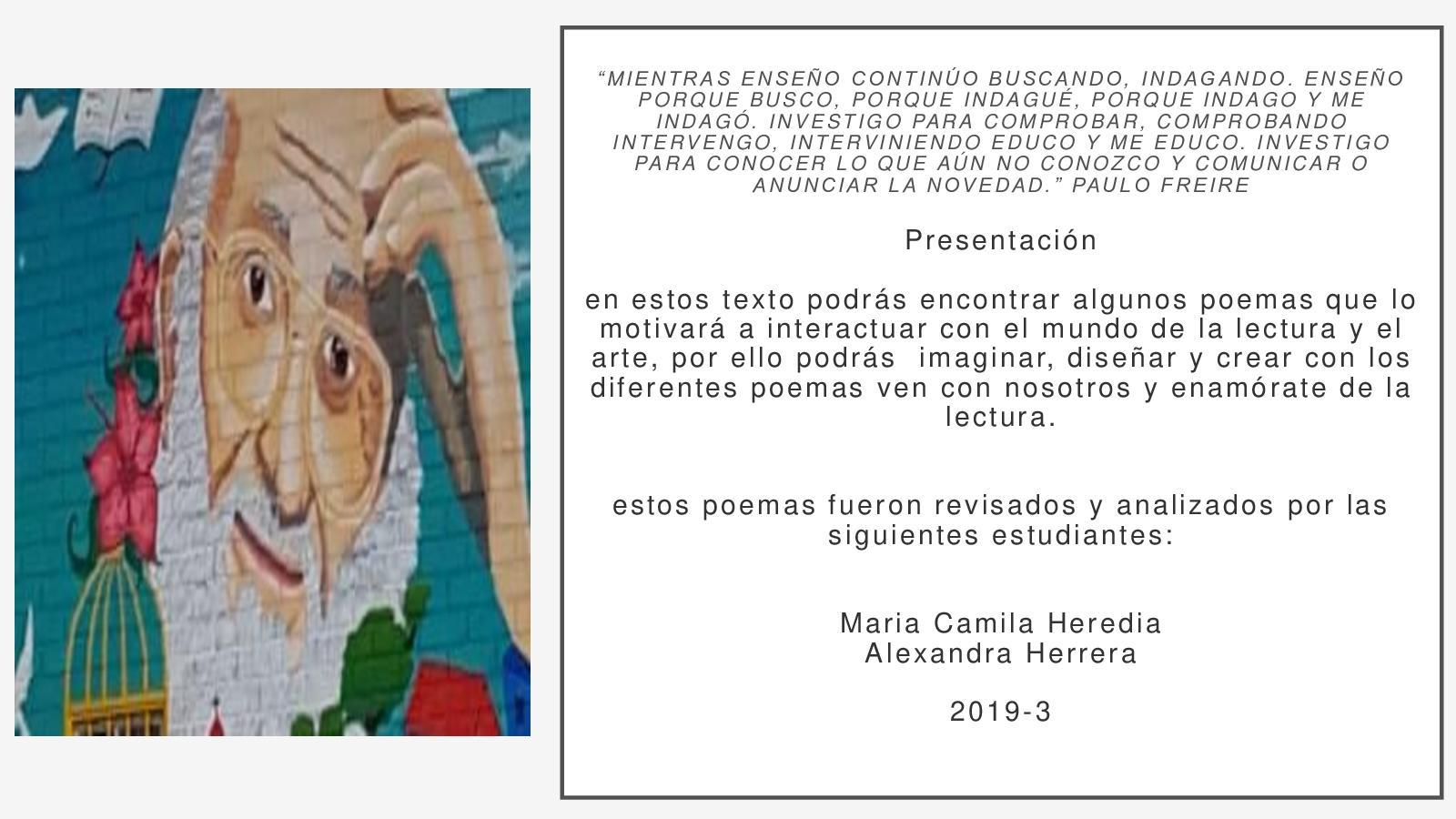 Calaméo Poemas Maria Lucia Finales