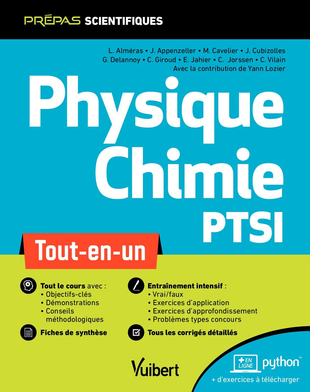 Extrait Physique Chimie PTSI