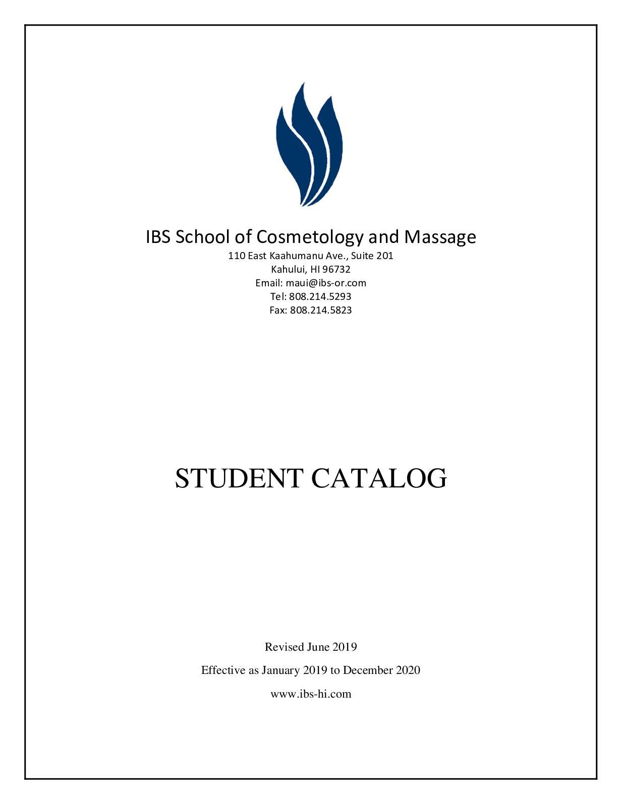 Calam O Student Catalog 6 28 19
