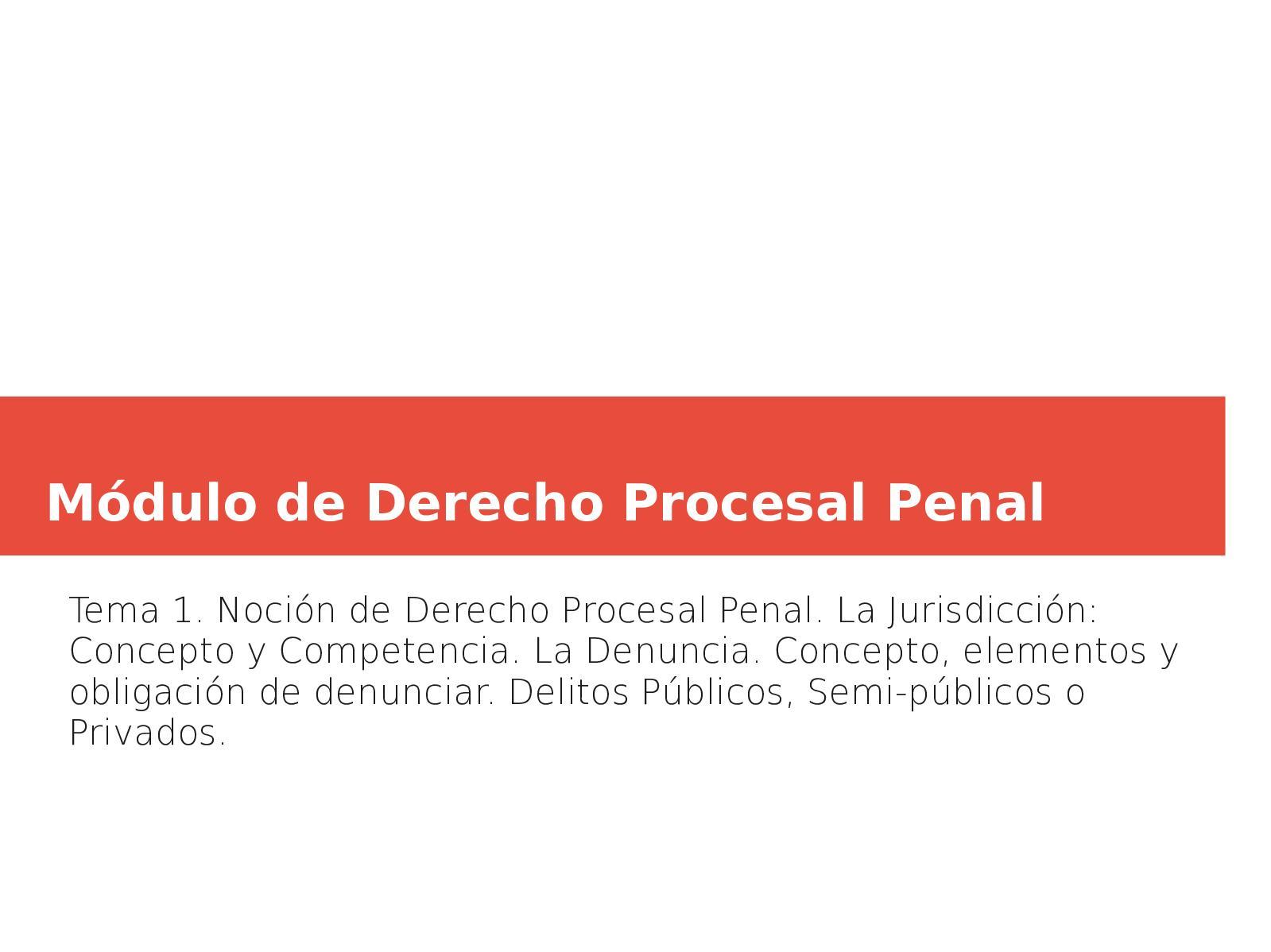 Presentacin De Derecho Procesal Penal