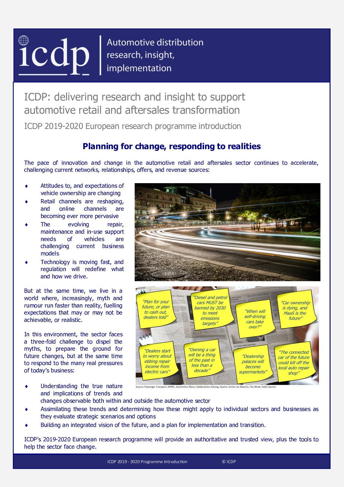 Calaméo - ICDP 2019 2020 Programme Outline