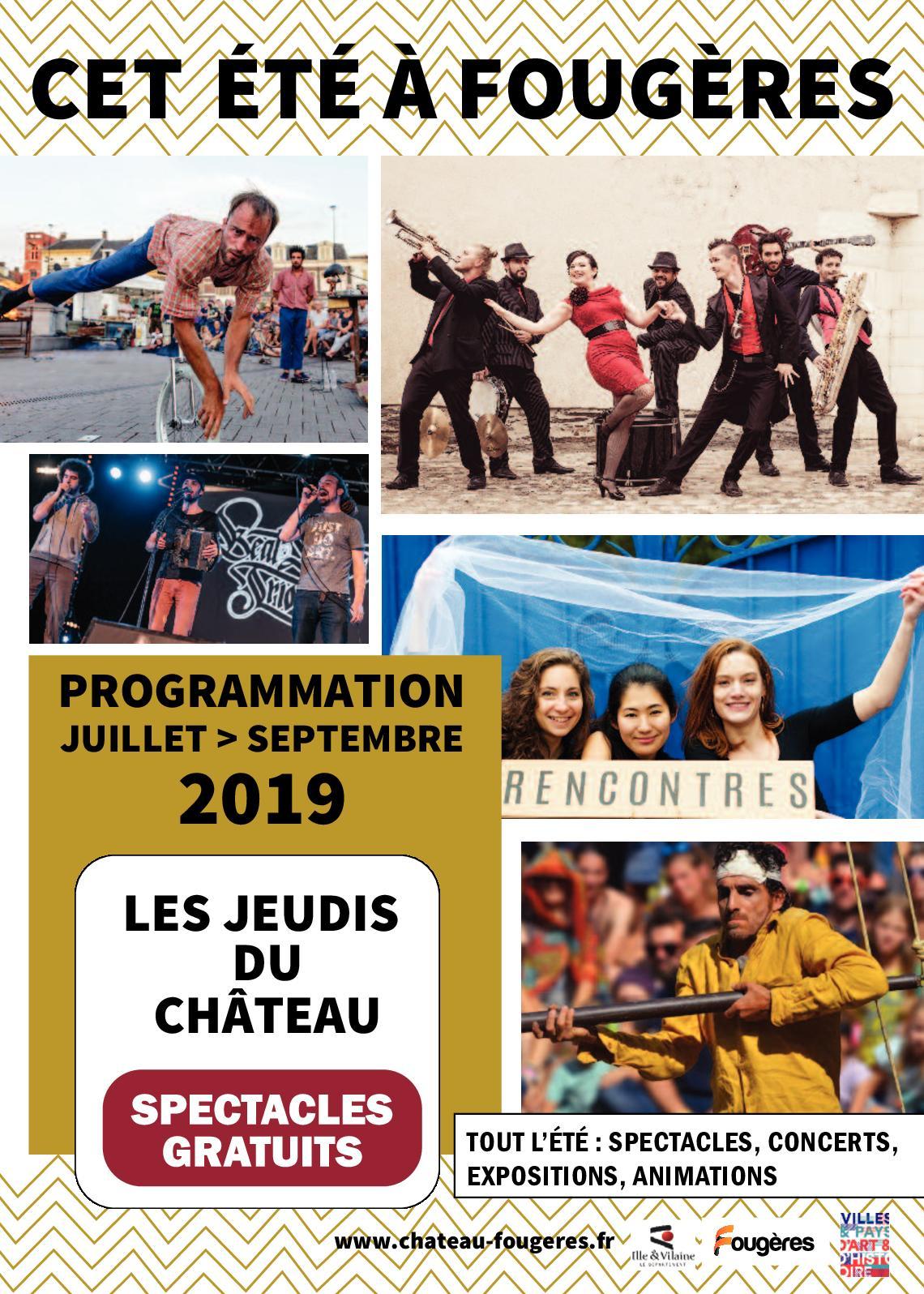 Plaquette été Fougères - 2019