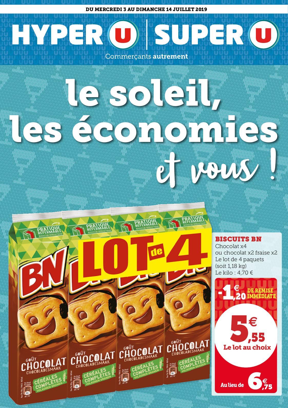 Catalogue du 03/07 au 14/07 : Le soleil, les économies et vous !