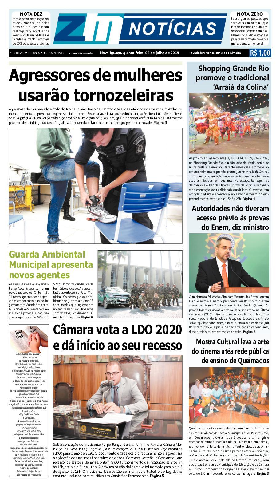Z M Noticias - Edicao 040719