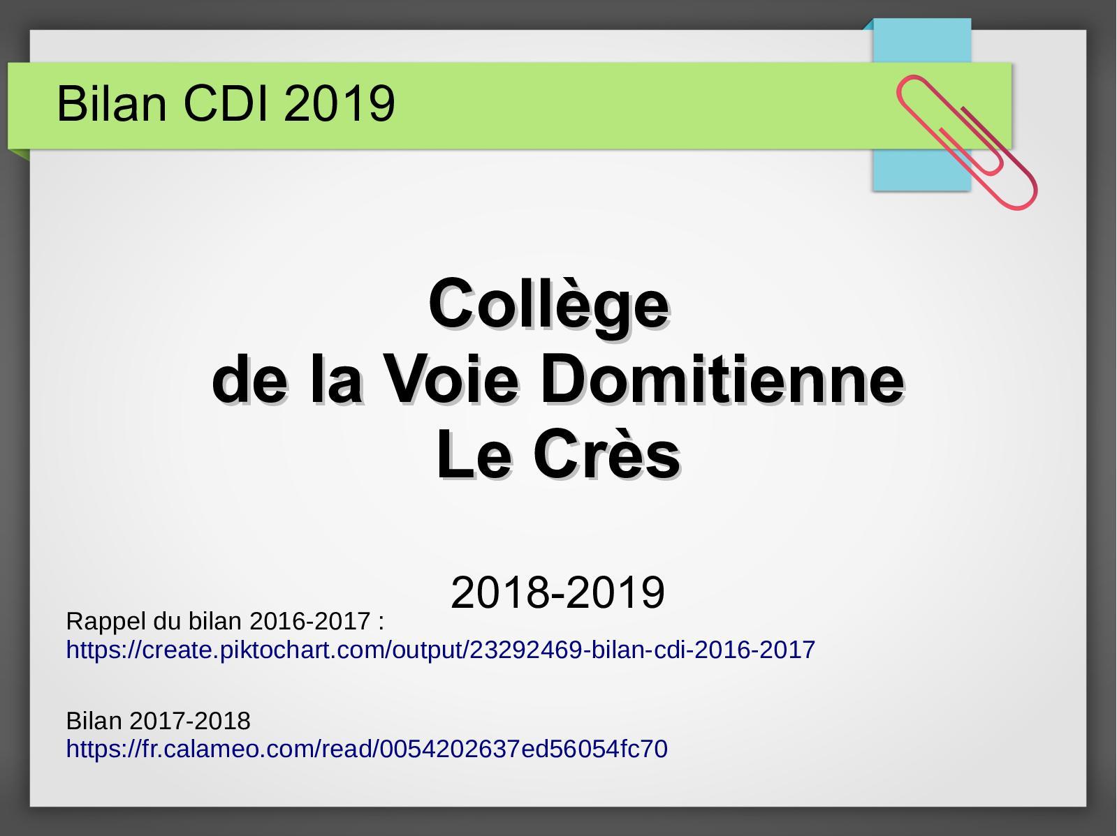 Calameo Bilan 2019