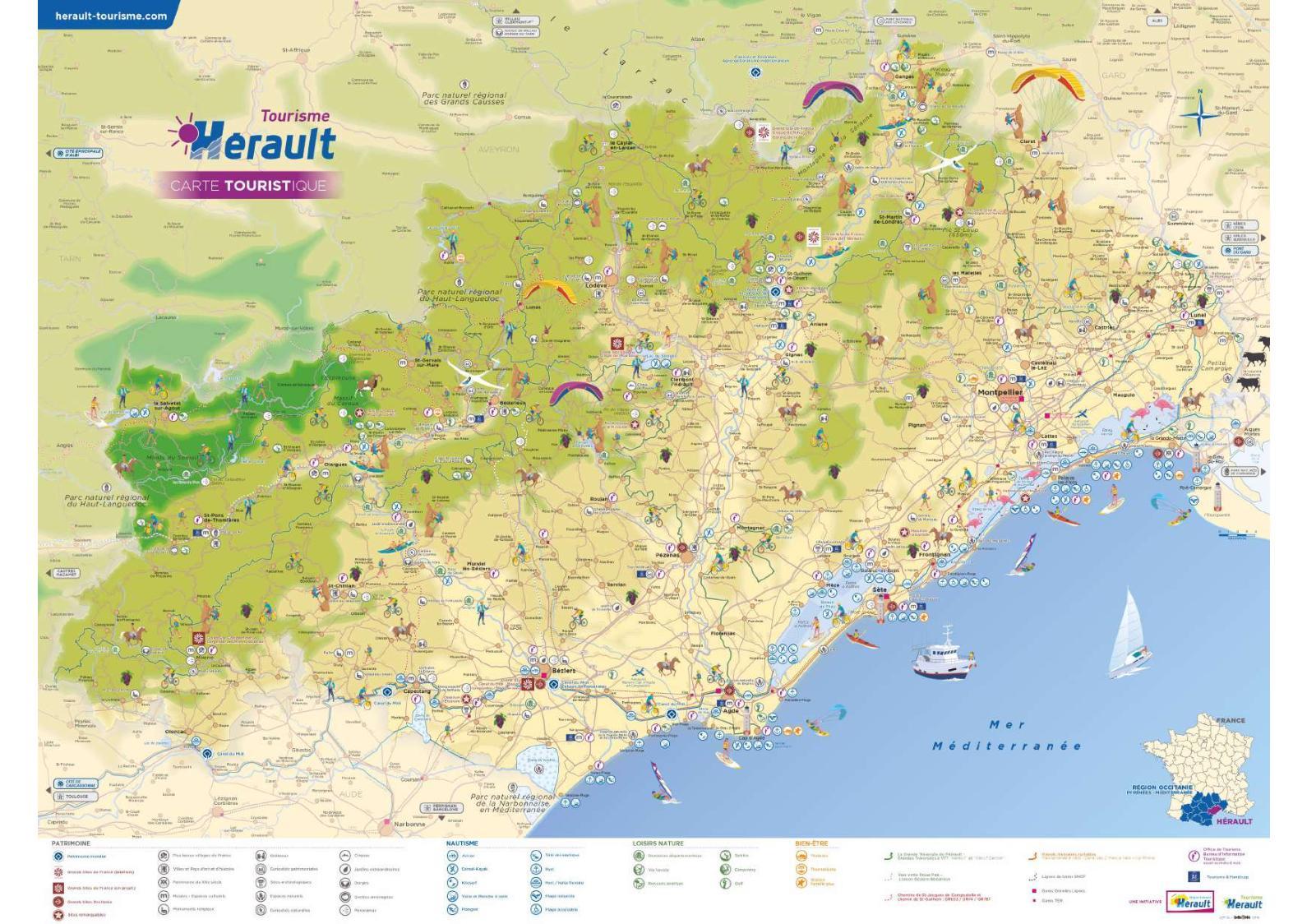 hérault carte touristique
