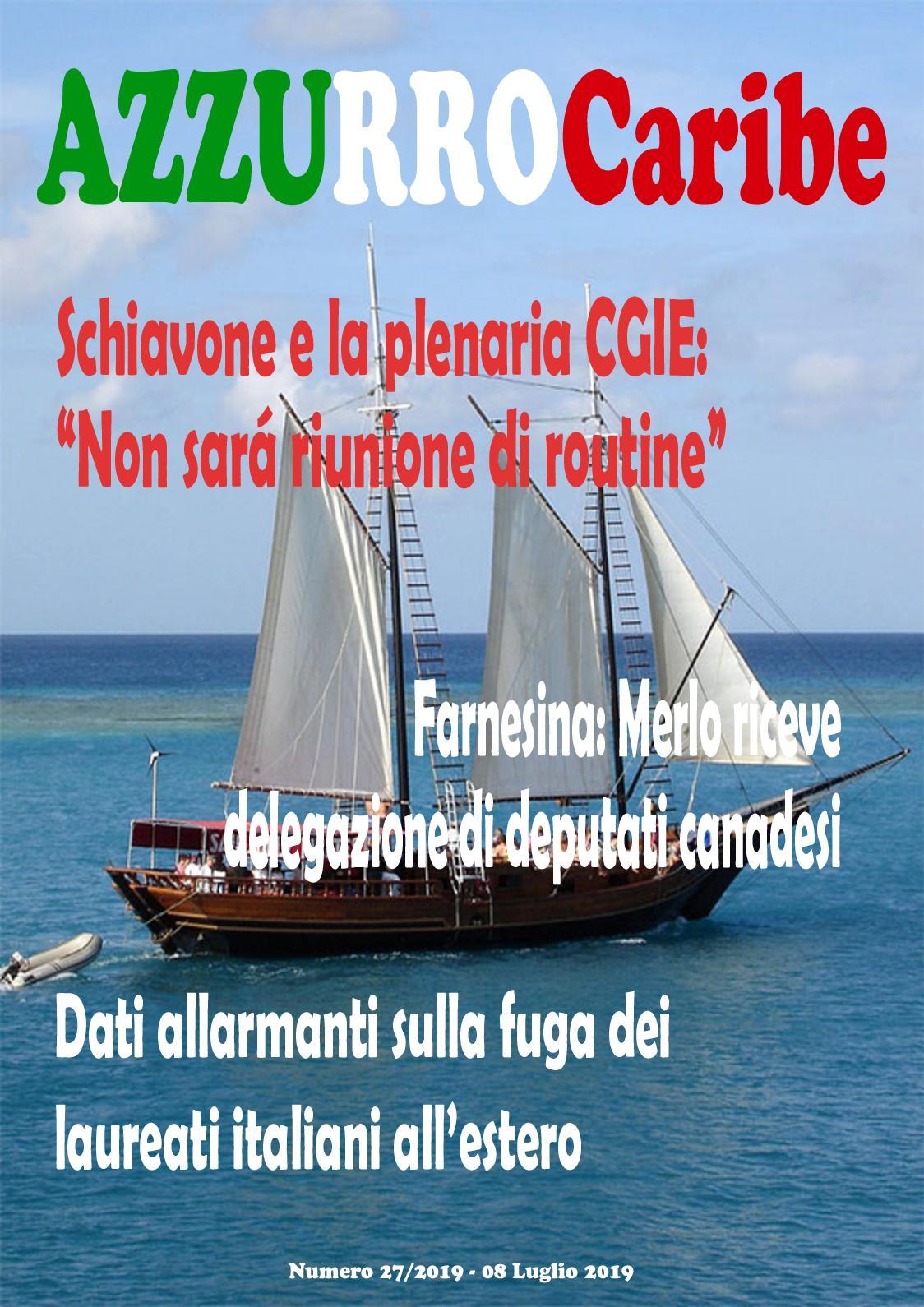 Calam o azzurro caribe luglio 2 2019 for Numero deputati italiani