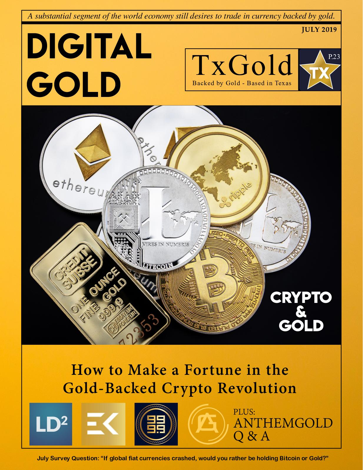 what cryptocurrency is backed by gold