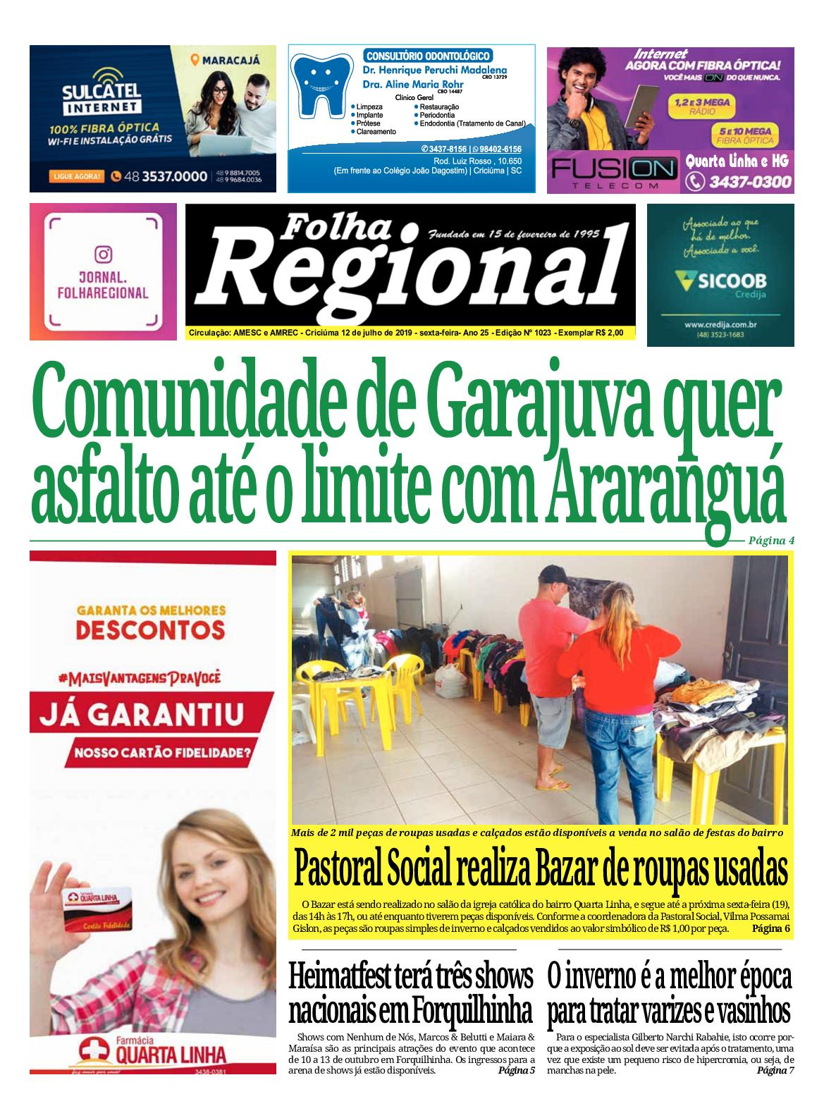 Folha Regional Ed.1023 - 12/07/2019