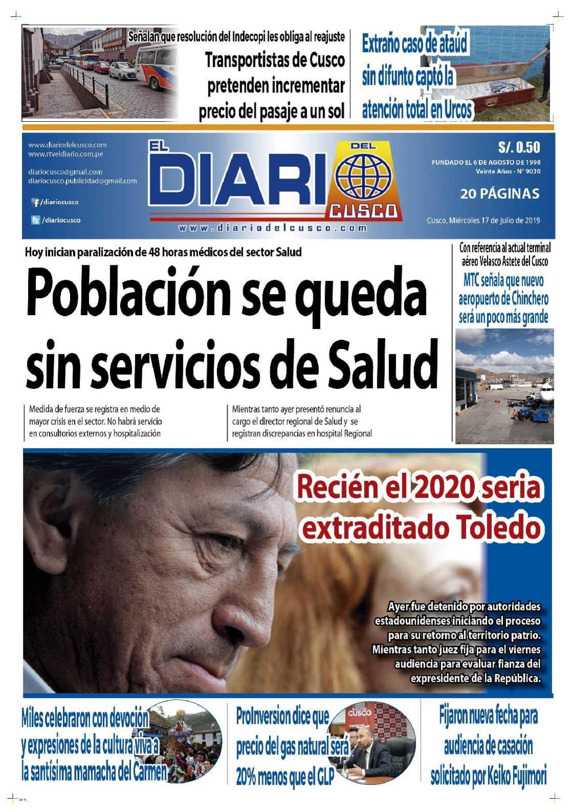 Diario del Cusco  17 de Julio de 2019