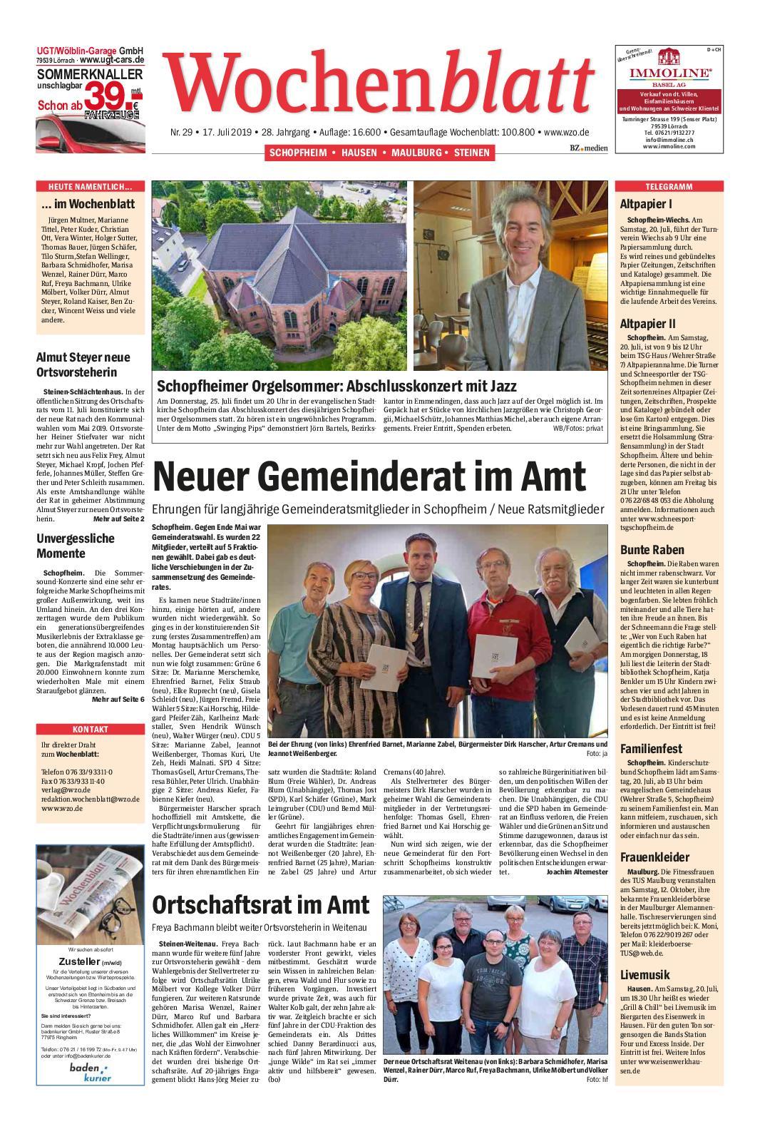 Calaméo Wochenblatt Schopfheim
