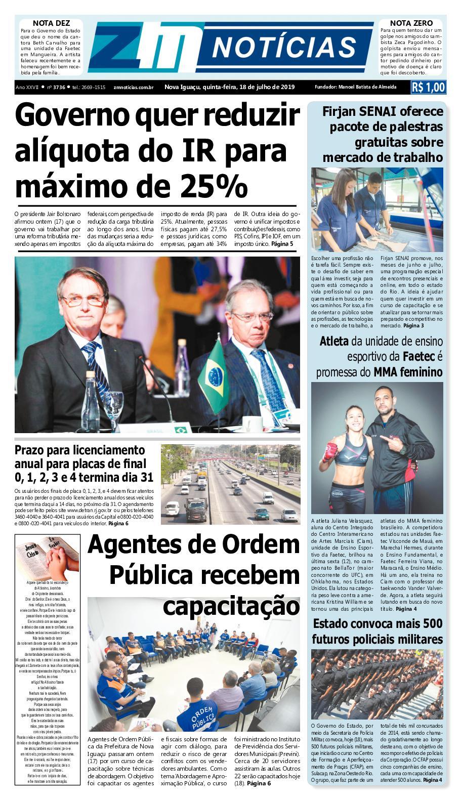 Z M Noticias - Edicao 180719
