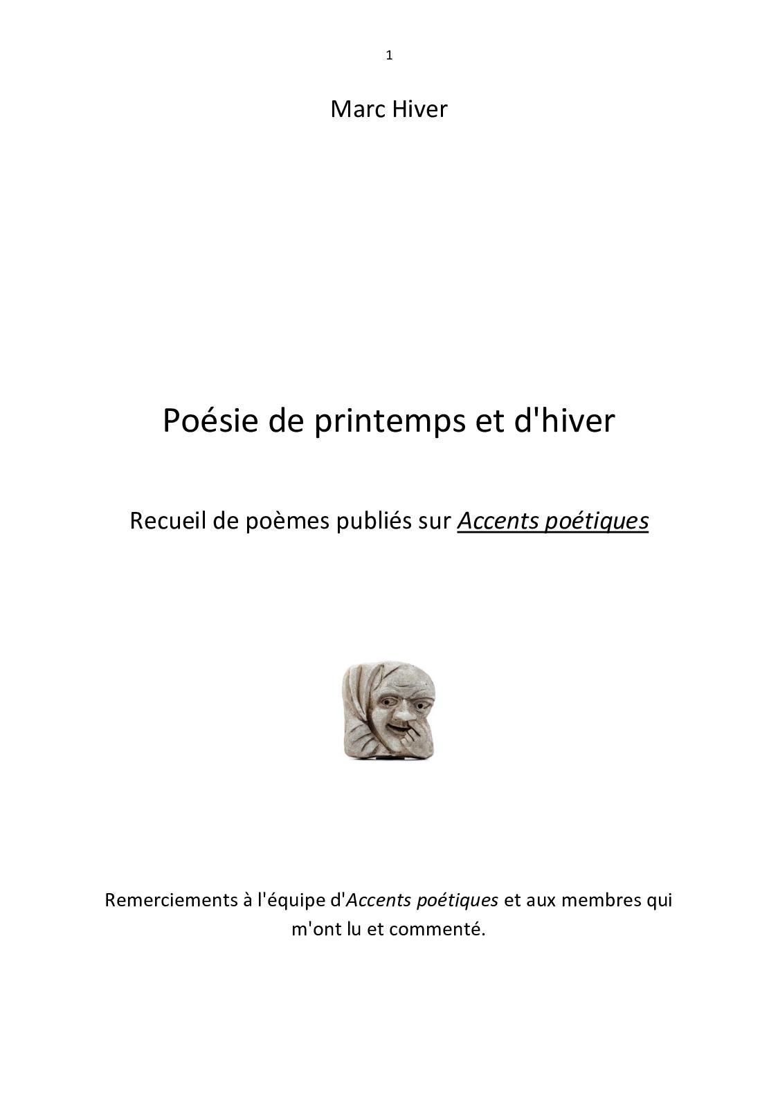 Calaméo Poésie De Printemps Et Dhiver