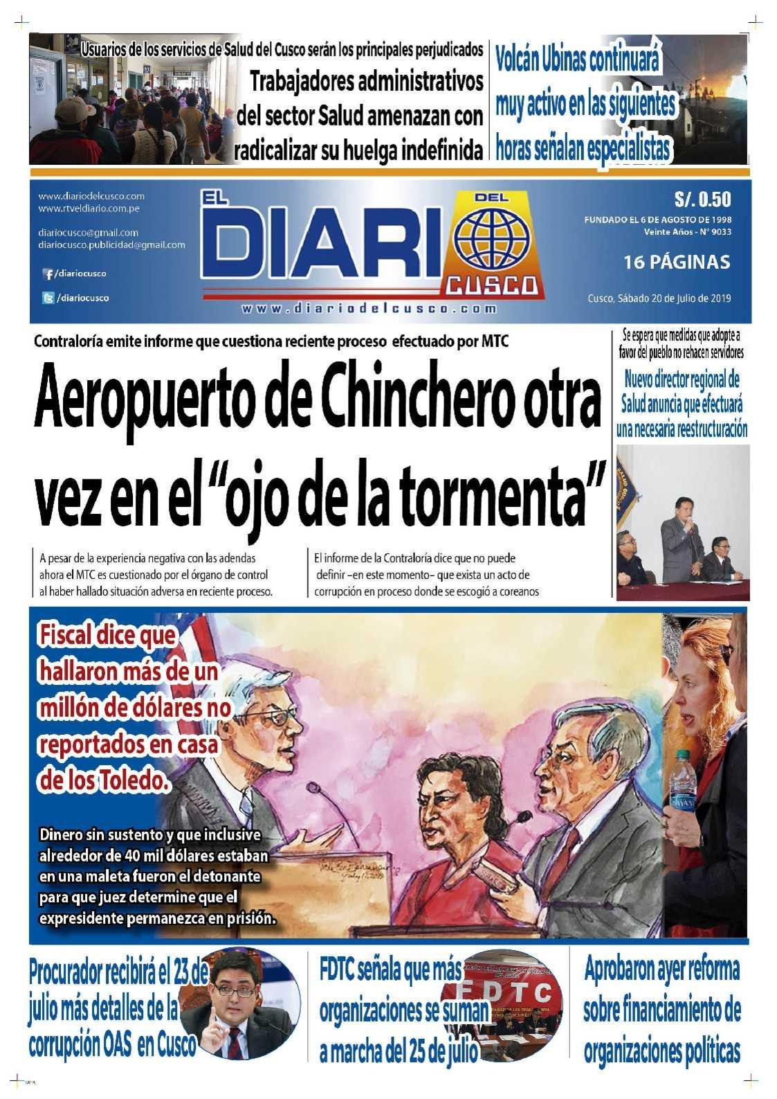 Diario del Cusco 20 de Julio de 2019