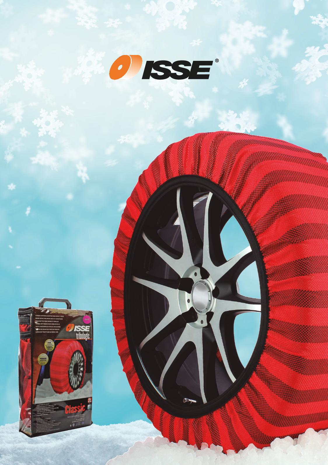 ISSE C60058 Classic Issue Snow Socks for Traction Size 58