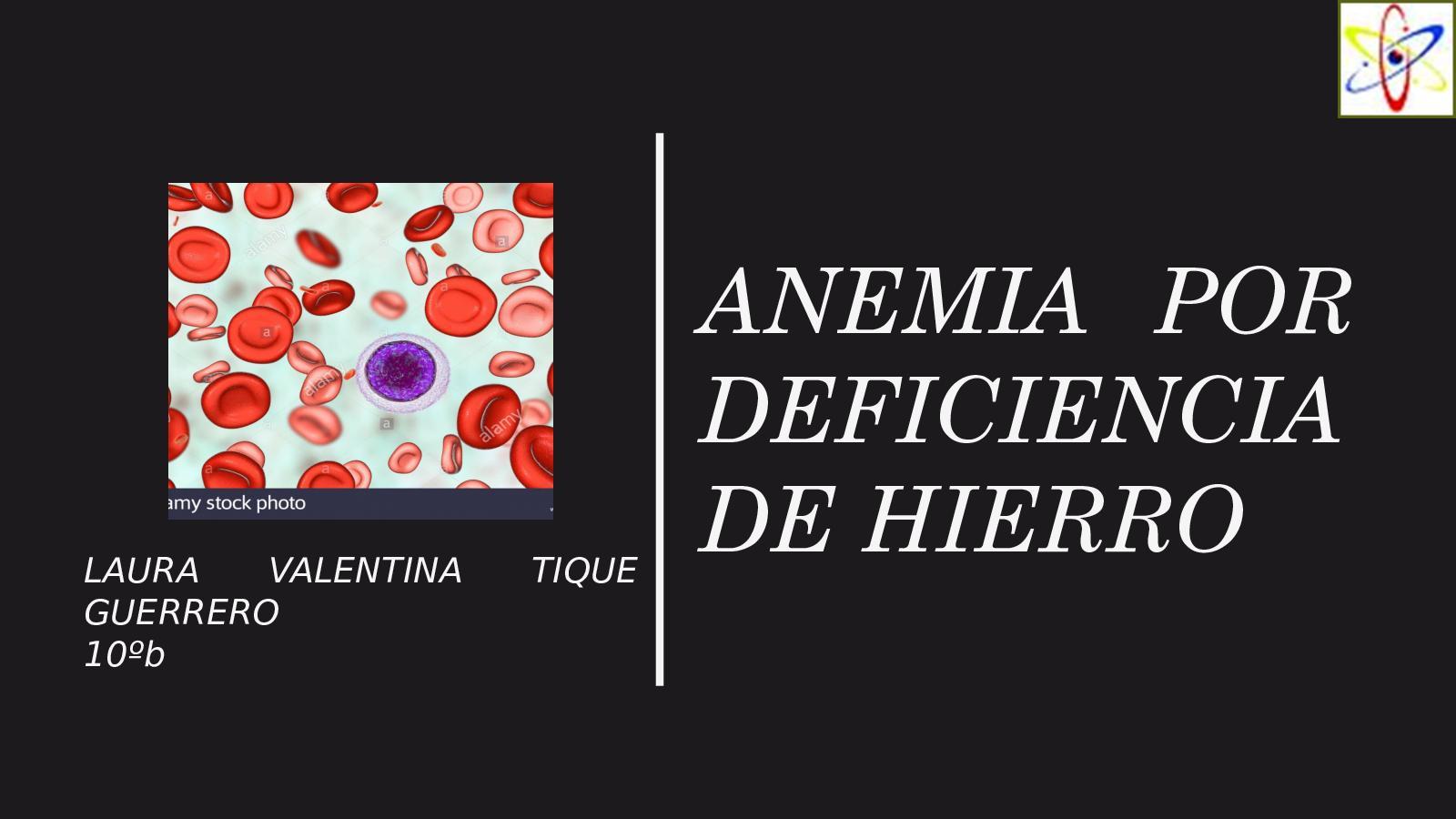 anemia x falta de hierro