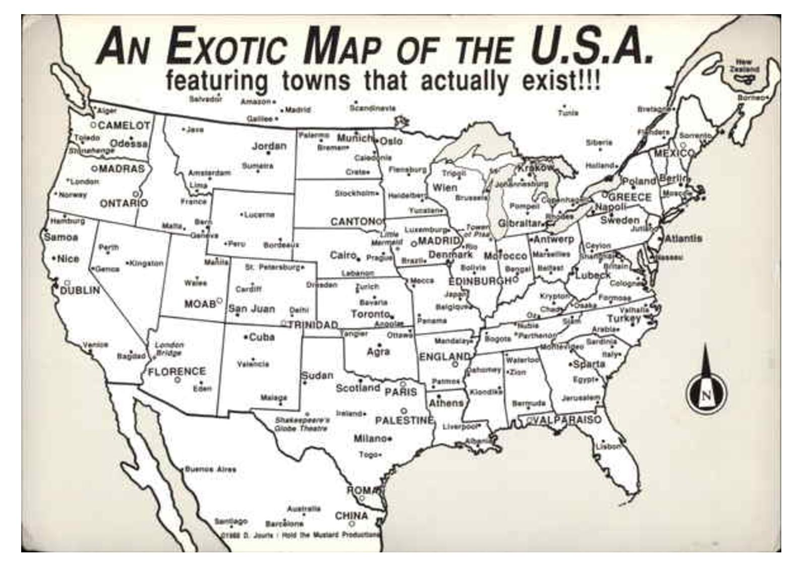 Calameo An Exotic Map Of The United States All Of These Cities