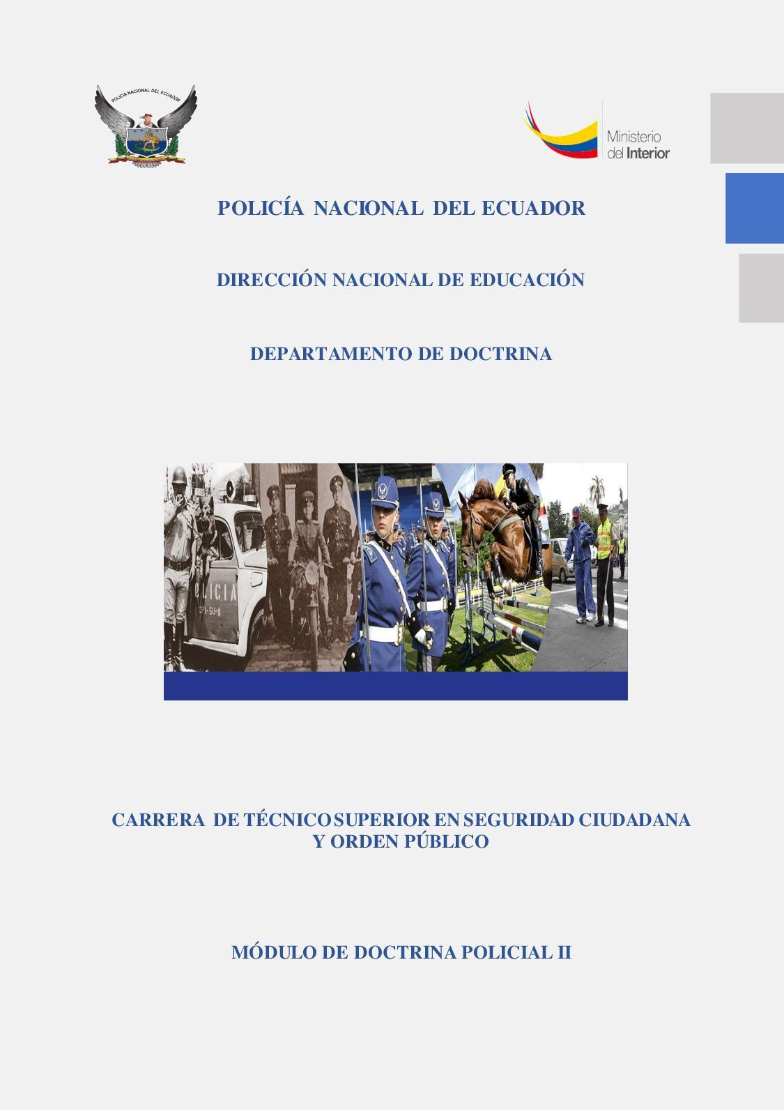 Calaméo Modulo Doctrina Policial Ii