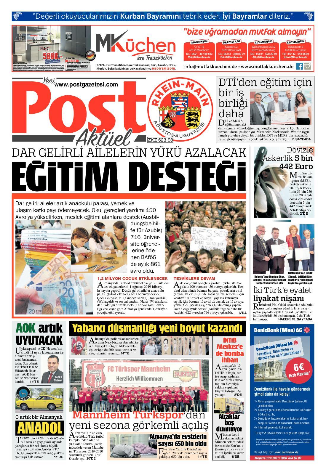 Calameo Post Gazetesi Rhein Main Agustos 2019