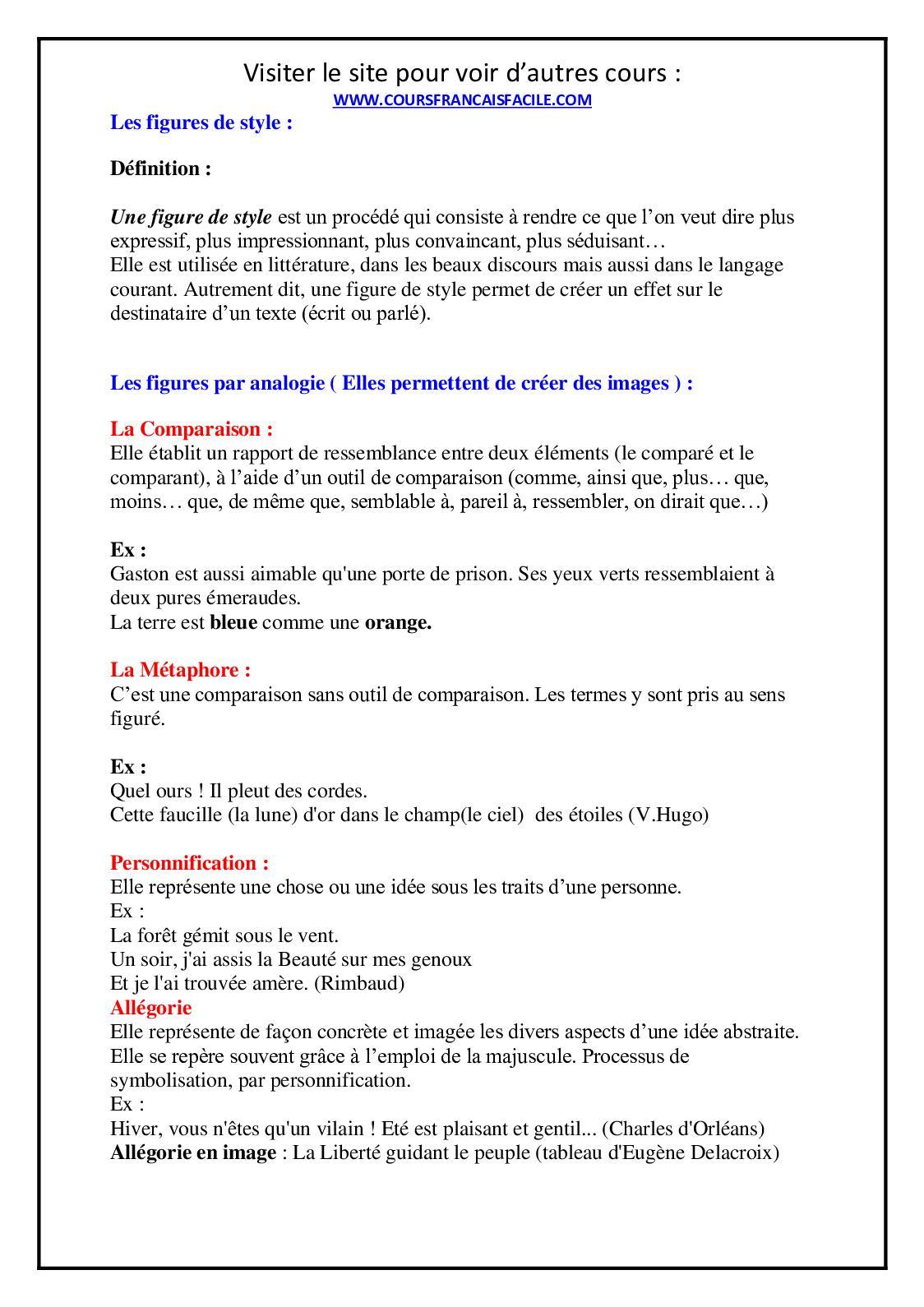 Calameo Toutes Les Figures De Style Expliquees Un Guide Complet