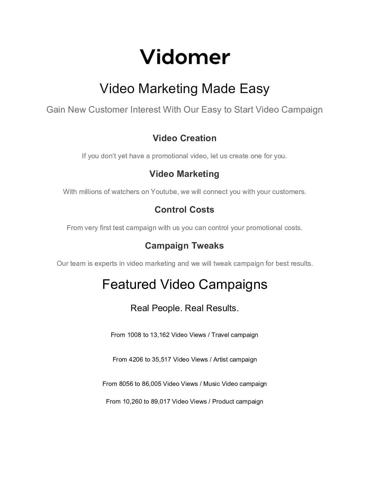 Calaméo - Using Vidomer com Youtube Promotion Video Strategy