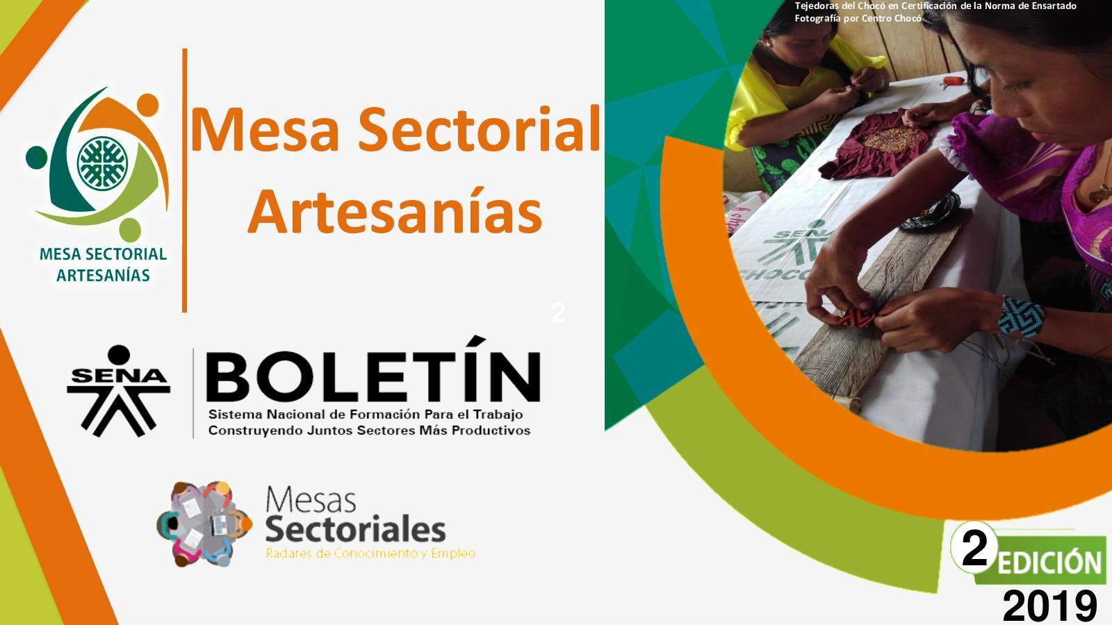Boletín 2 Mesa Sectorial de Artesanías SENA 2019
