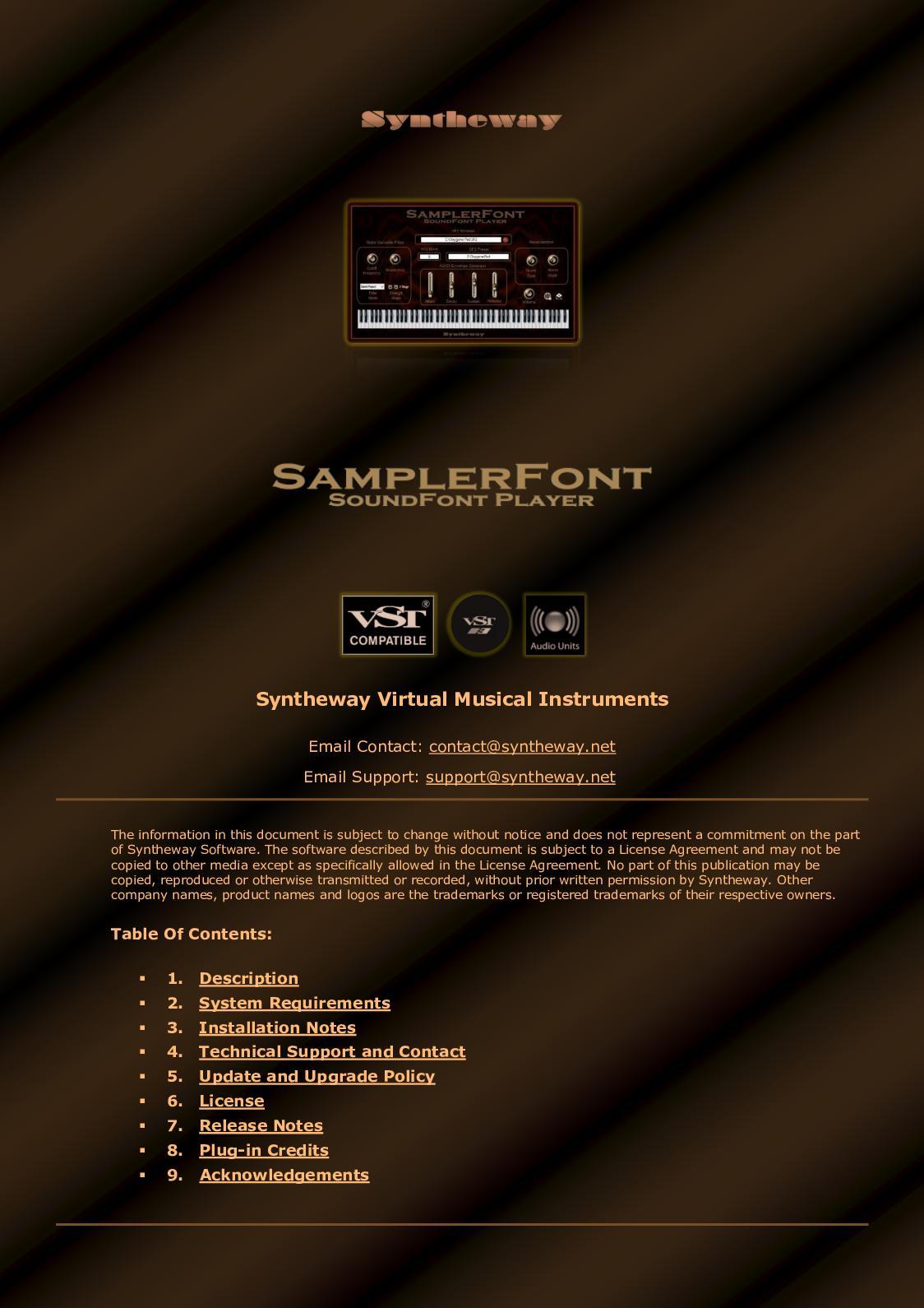 Calaméo - SamplerFont SoundFont Player VST VST3 64 bit for