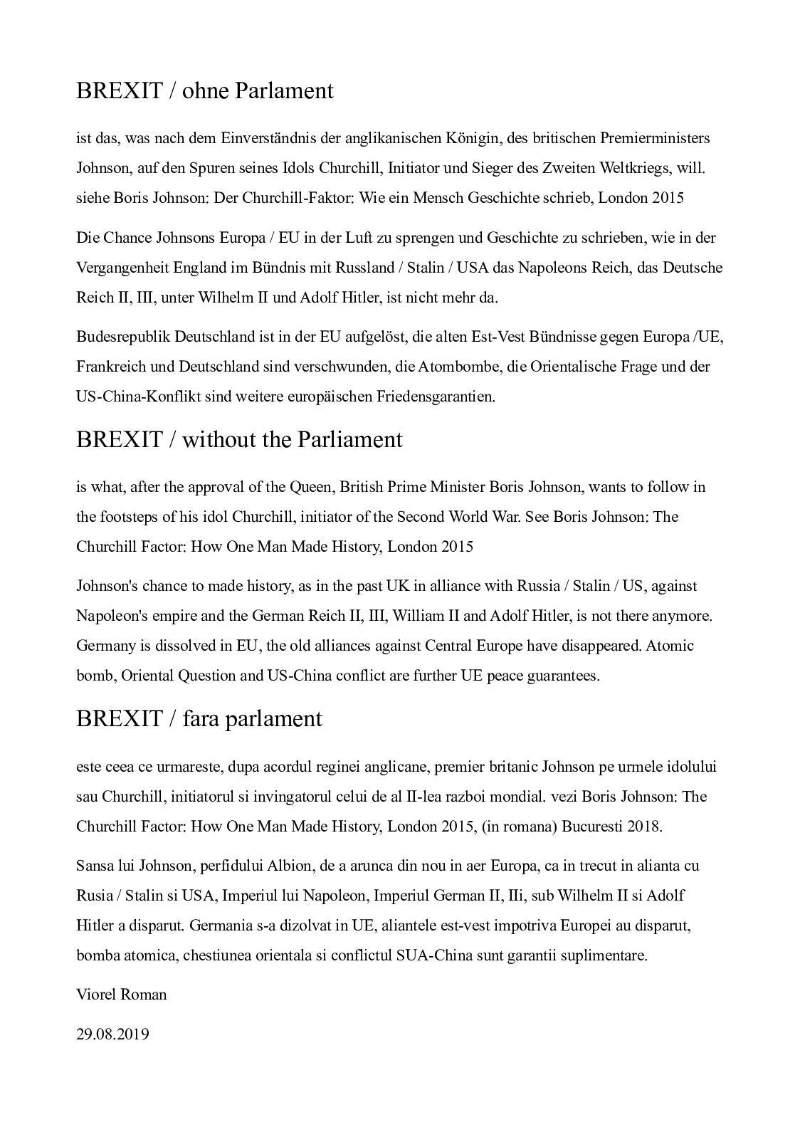 Calaméo - Brexit : Ohne Parlament