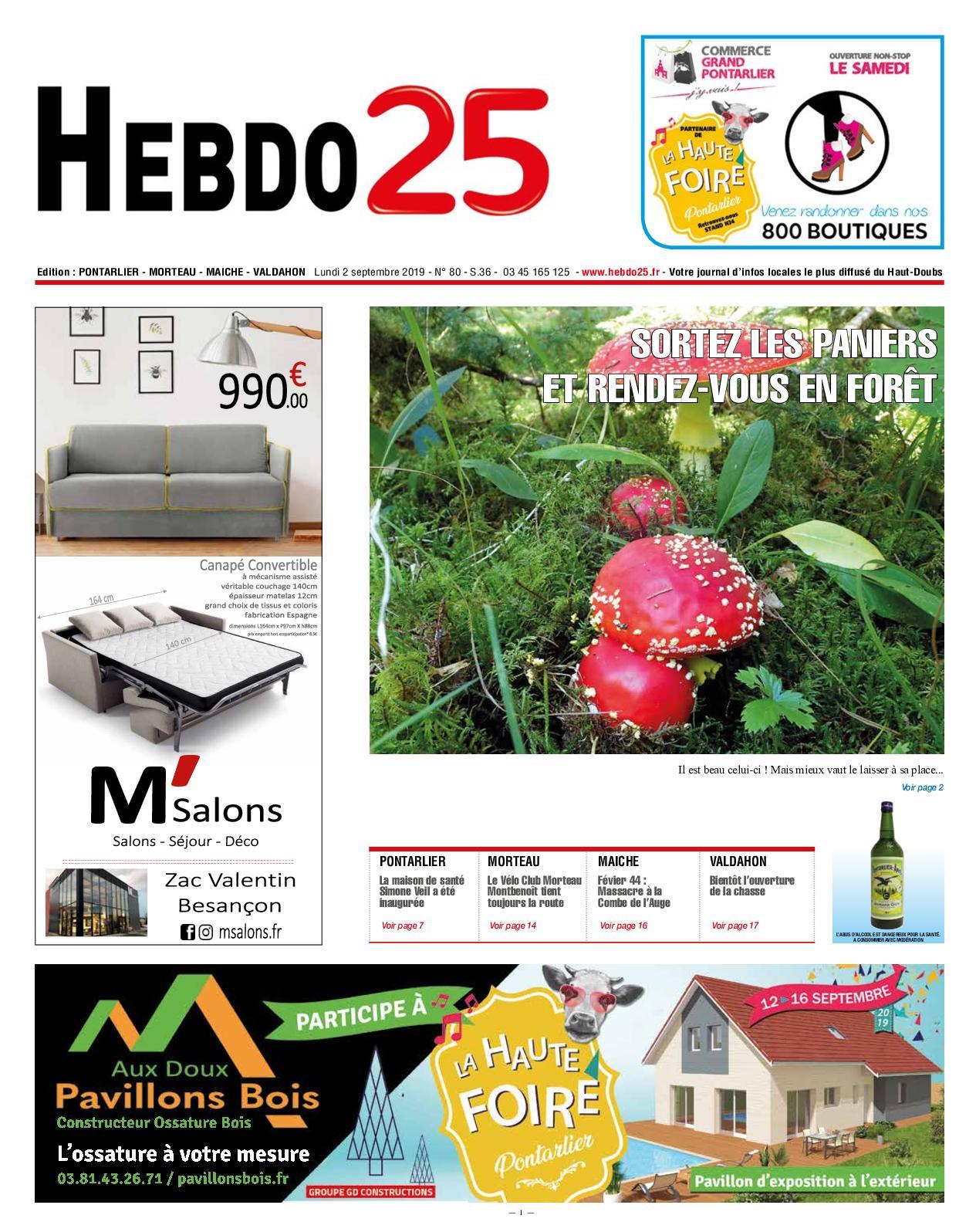 prix le plus bas prix double coupon Calaméo - Hebdo Pontarlier 2019 Semaine 36