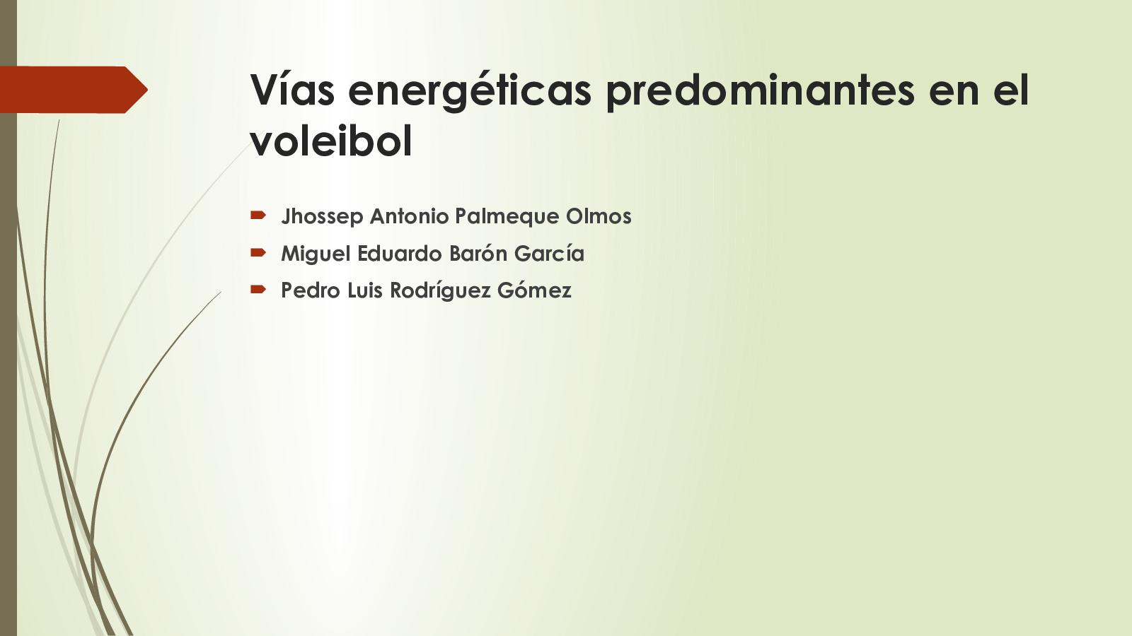 Sistemas energeticos en el voleibol