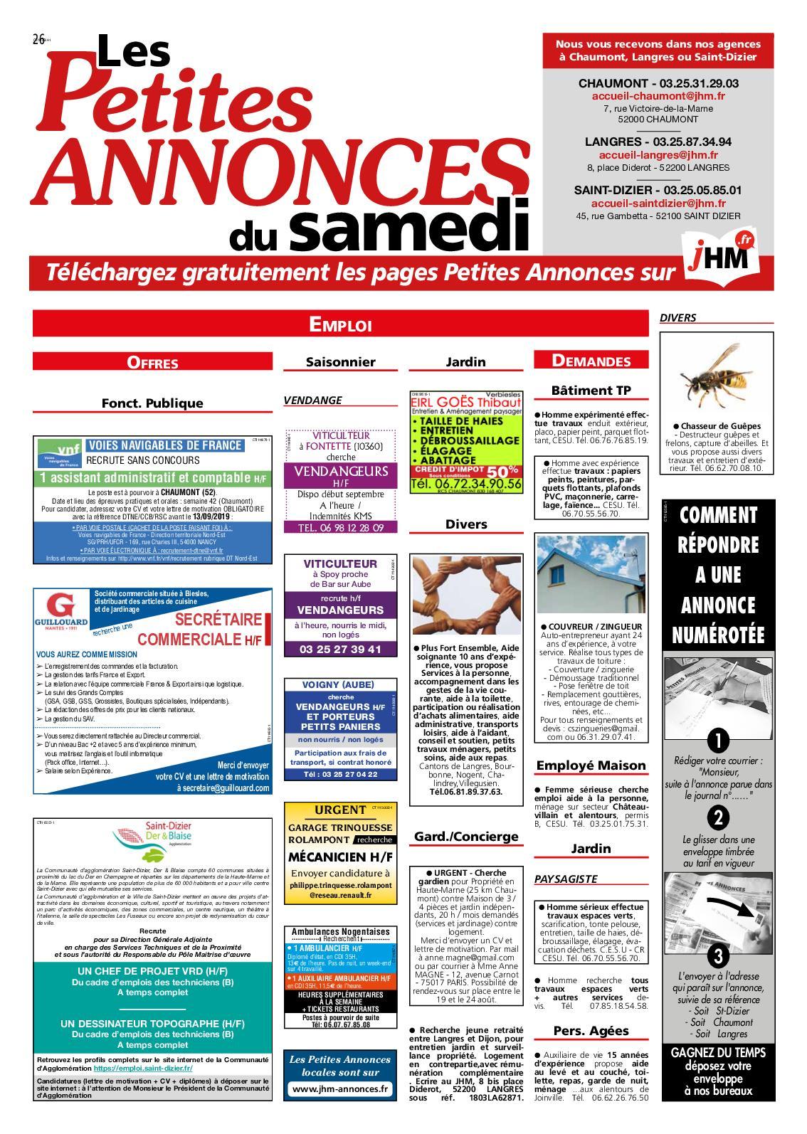 Calaméo Cahier Des Petites Annonces Du Jhm