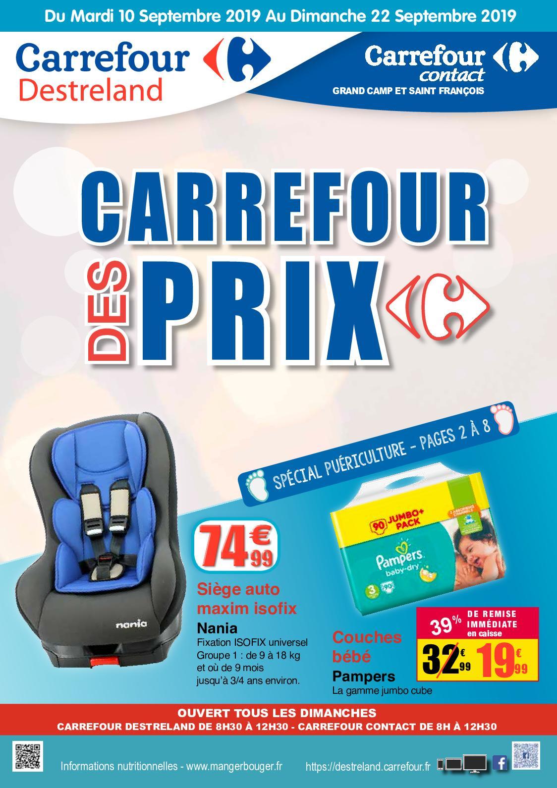 Calaméo - 20190910 Carrefour Destreland Carrefour Des Prix ...