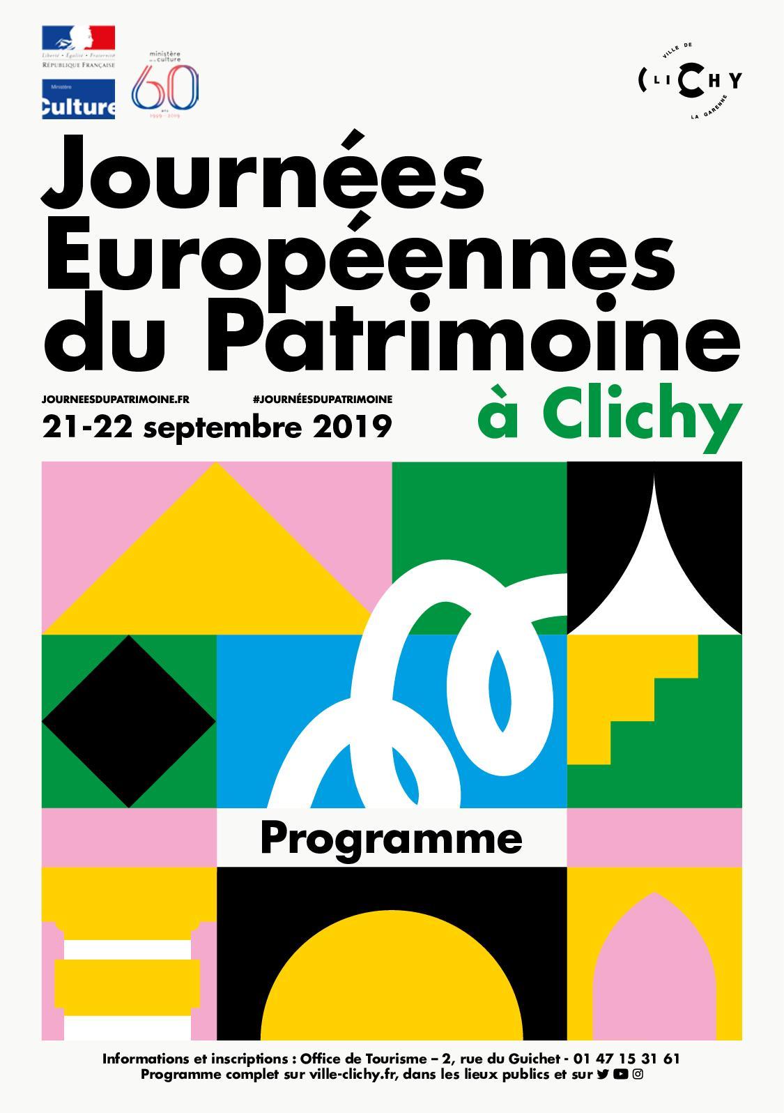 Calam o journ es patrimoine 2019 le programme - Office de tourisme de clichy ...