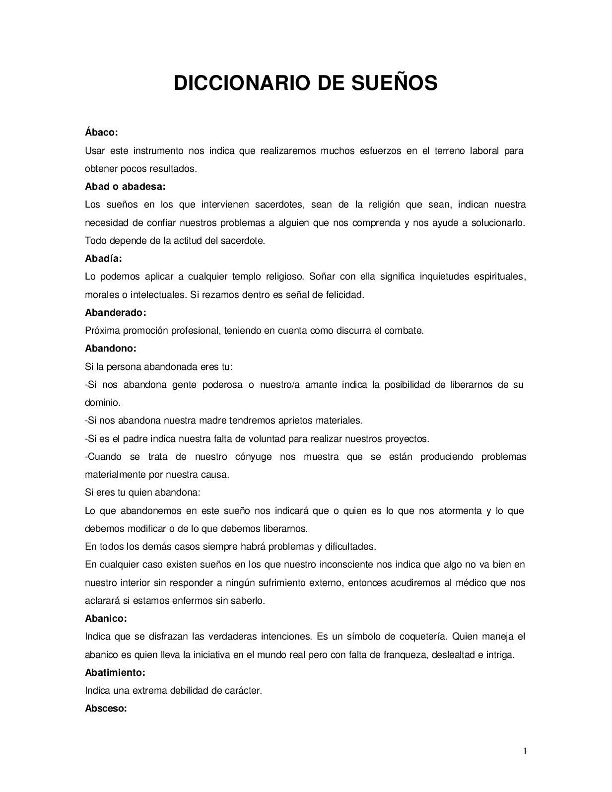 Calaméo Diccionario De Los Sue Os