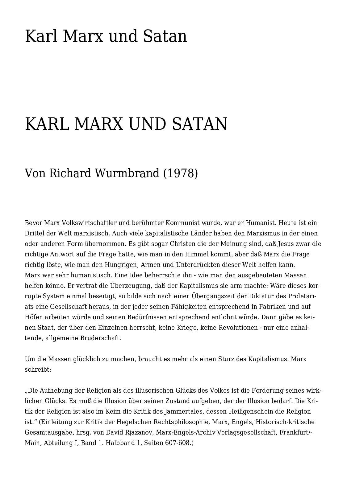 Calaméo   Karl Marx und Satan