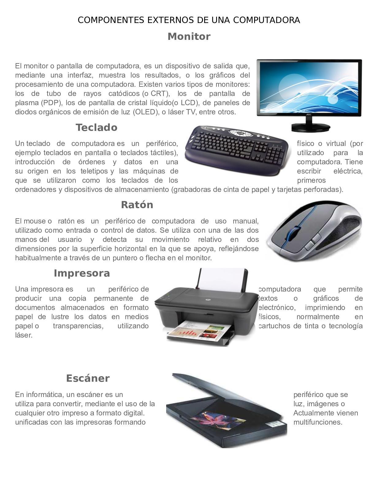 Calaméo - Componentes De Una Computadora