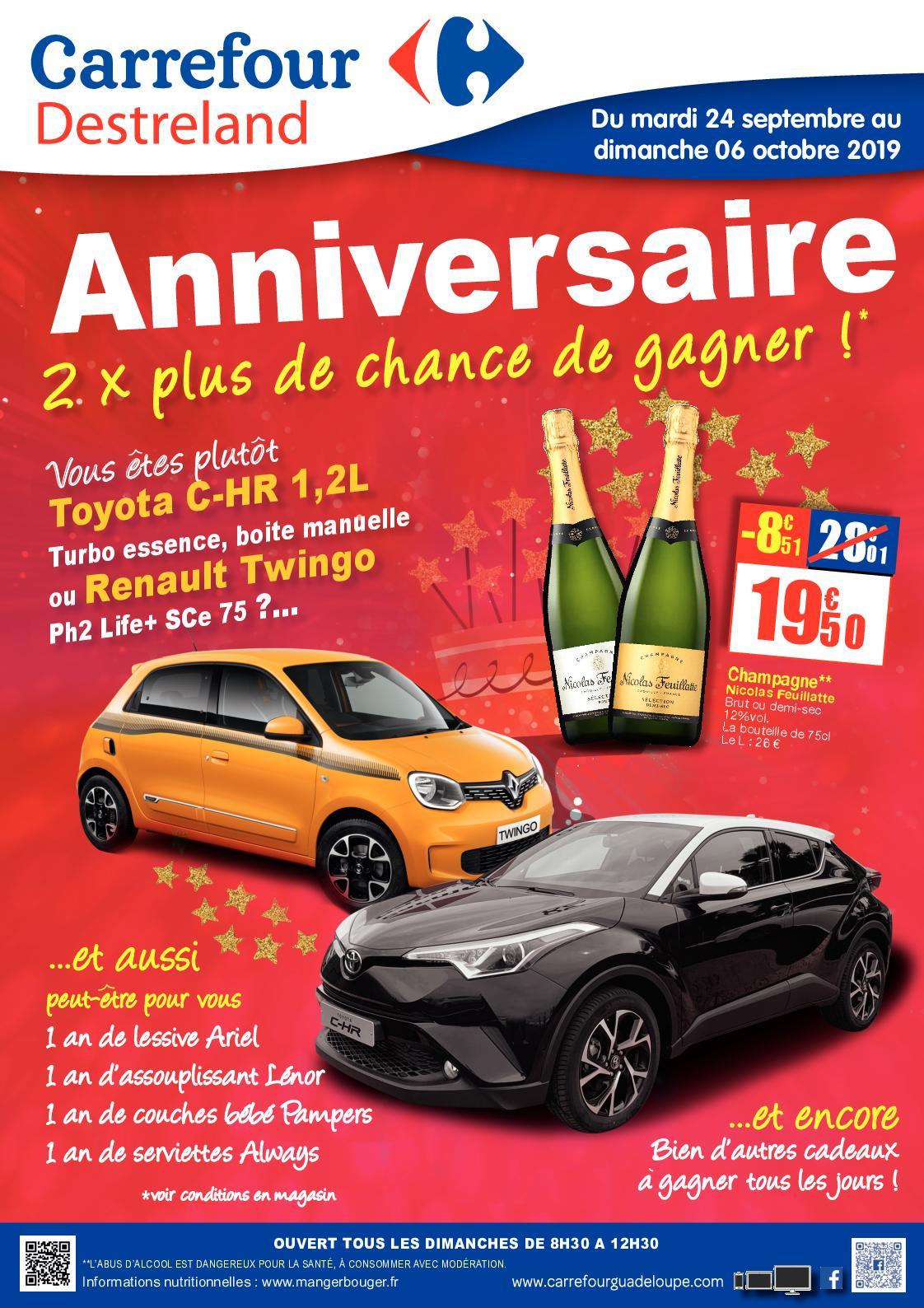 Calameo 20190924 Catalogue Anniversaire Carrefour Destreland