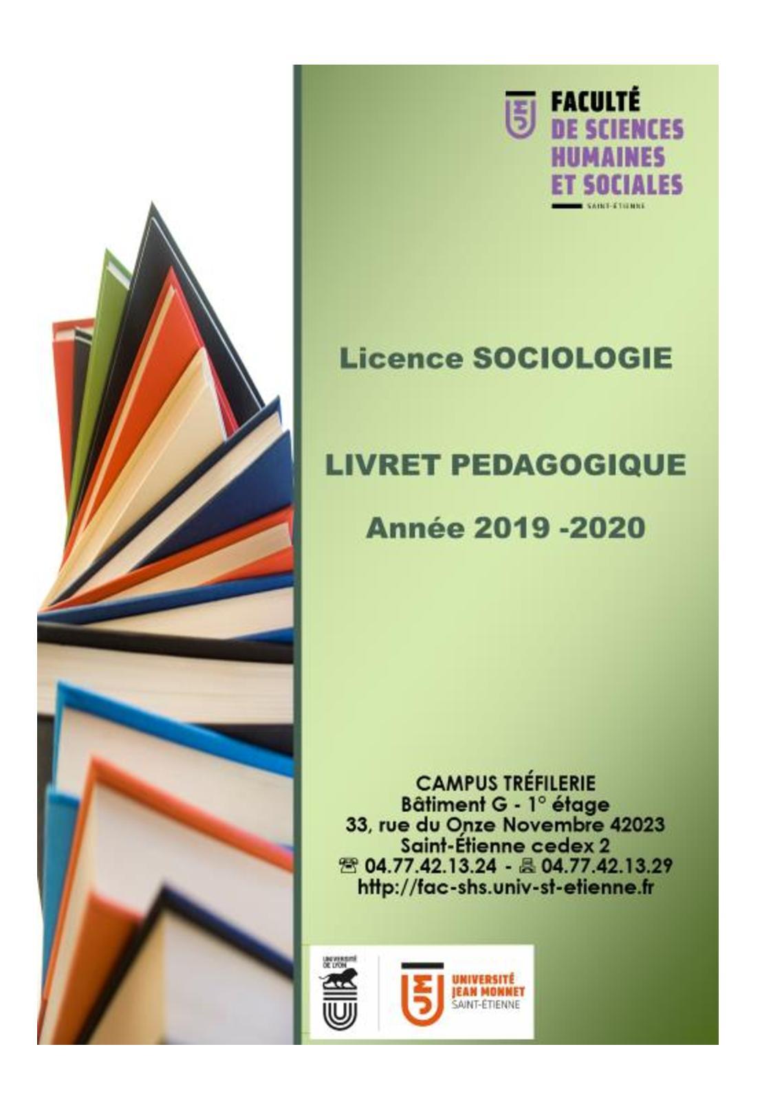 Calendrier Universitaire Paul Sabatier 2019 2020.Calameo Livret Sociologie 2019 2020